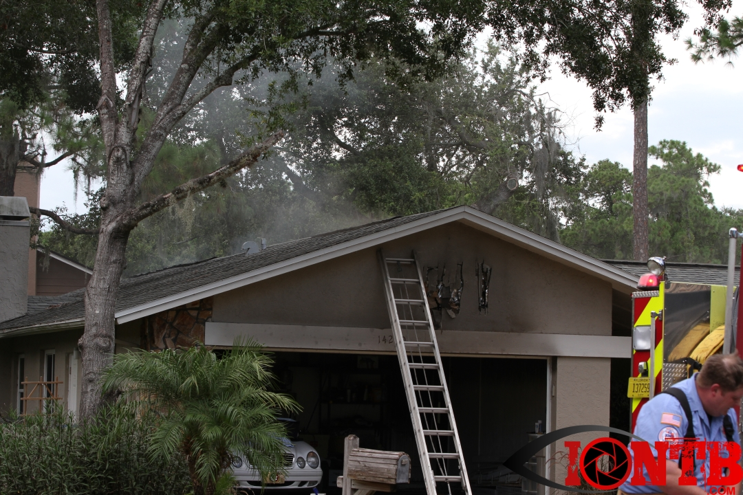 House fire in Feathersound leaves family dog dead