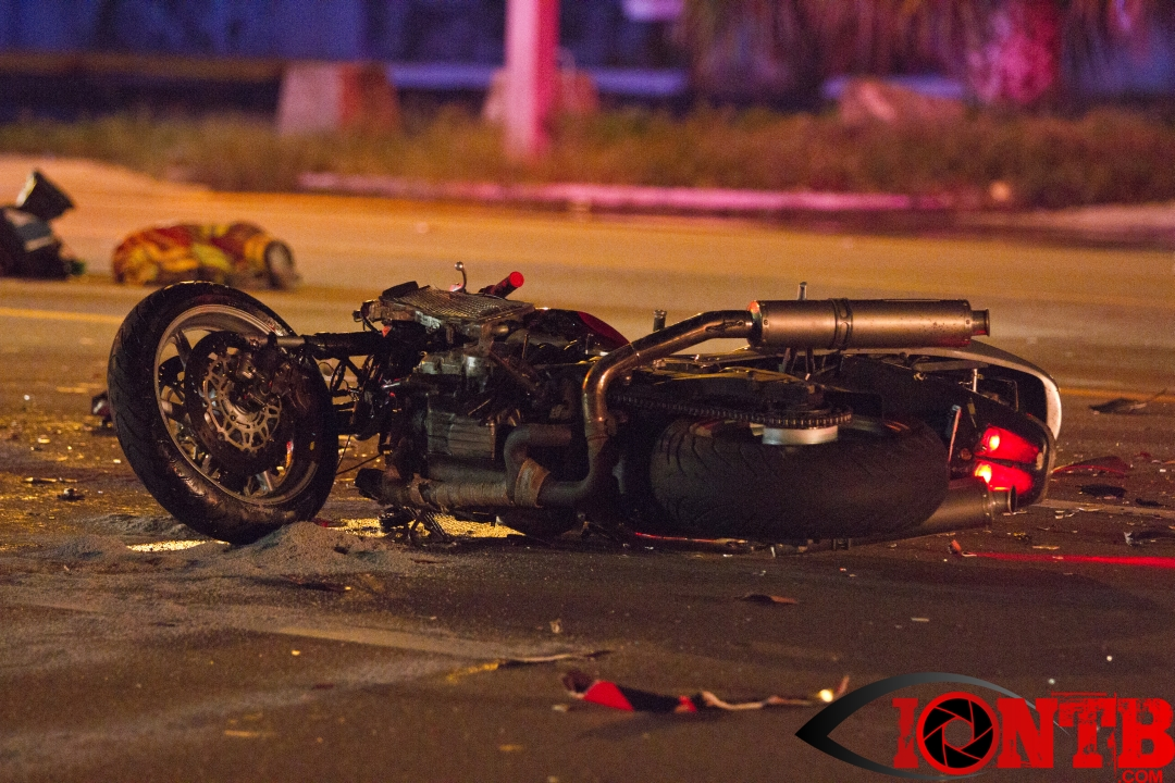 Motorcycle collides with vehicle on Missouri Avenue in Largo