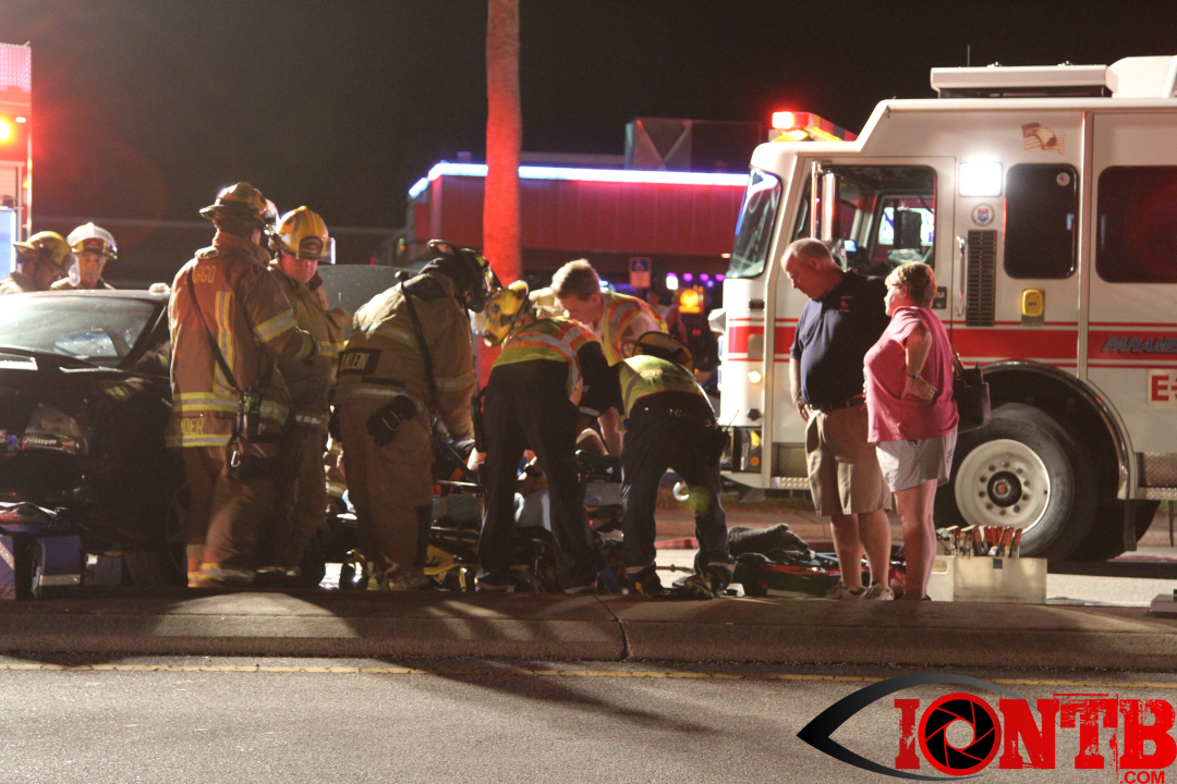 Occupant extricated from vehicle after crash in Largo