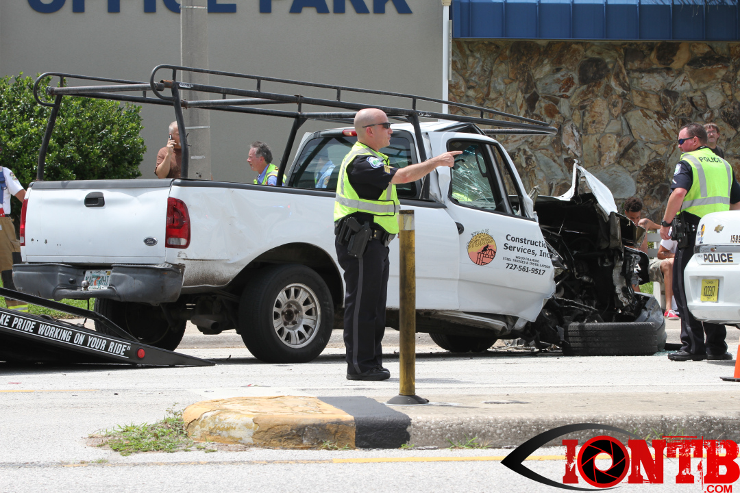 Pickup truck vs PSTA Bus leaves five transported to local hospitals