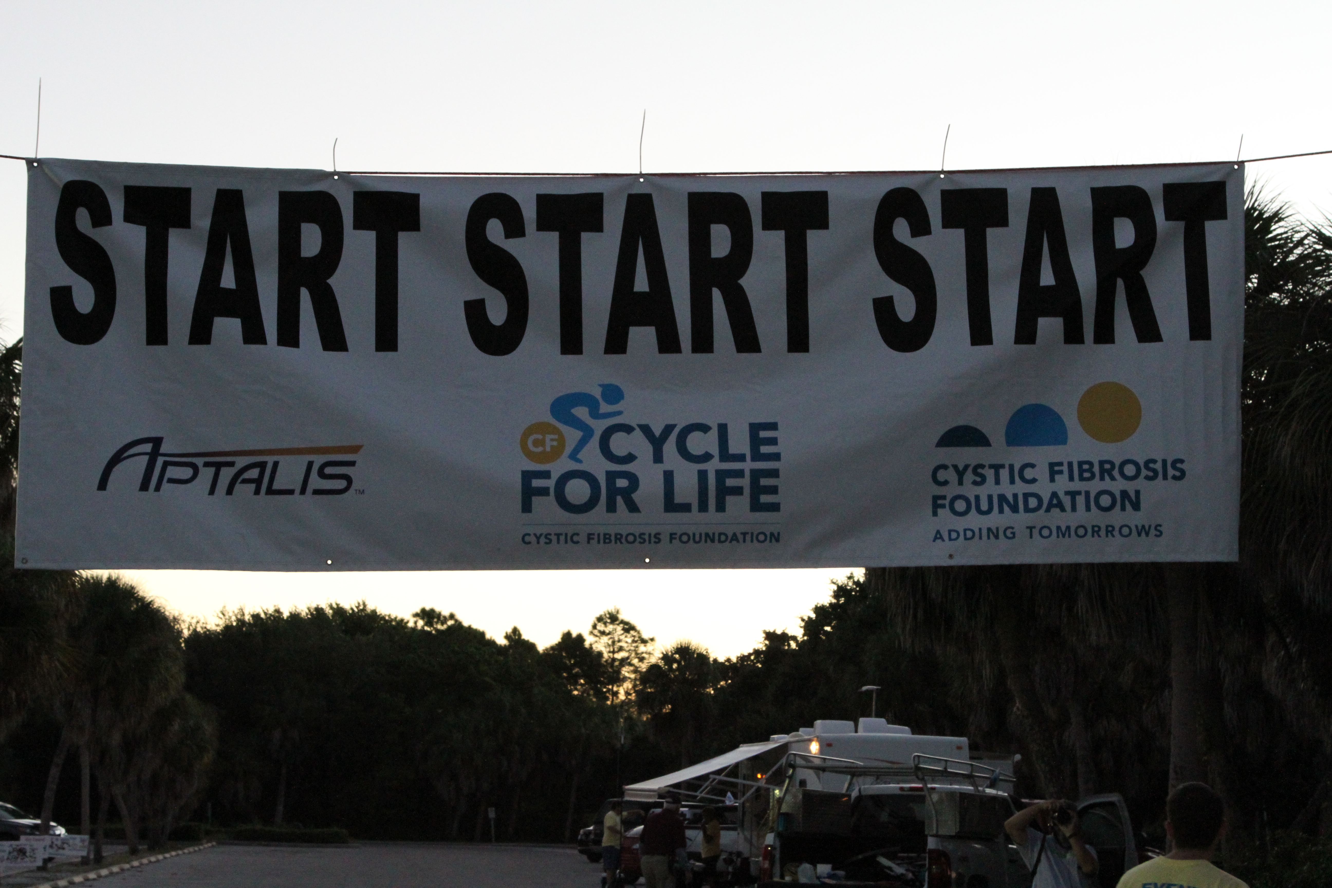 CF Cycle For Life bicycle ride this morning in St. Petersburg