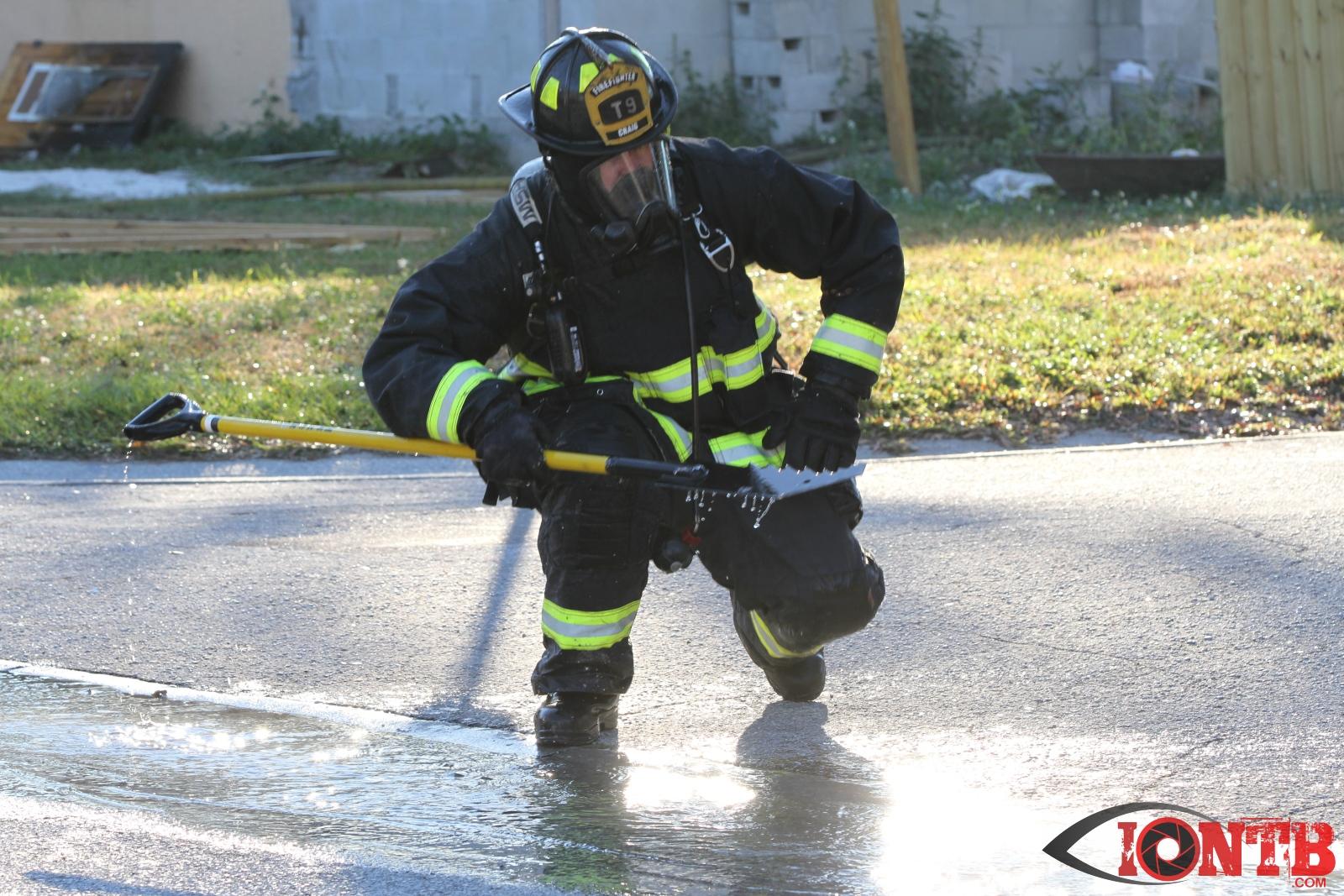 Pinellas firefighters battle structure fire in Lealman