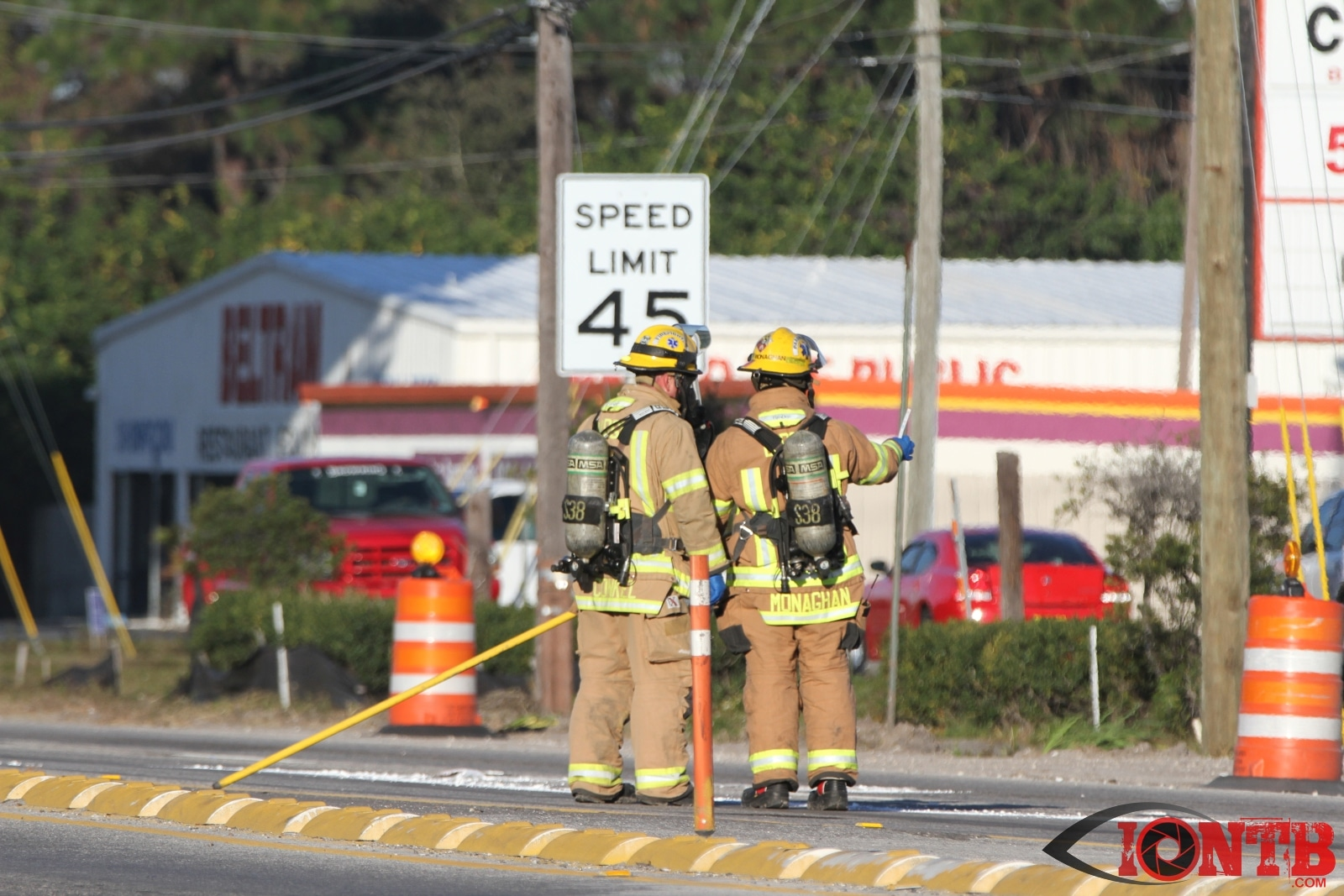 Ulmerton Road closed due to chemical spill in the roadway