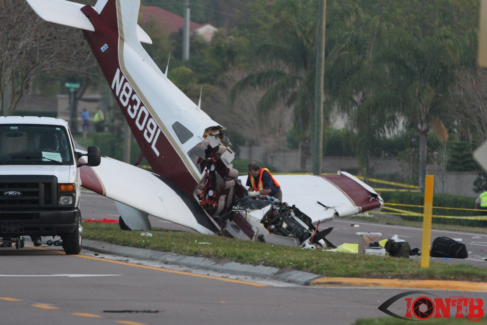 Aircraft Crashes on McMullen Booth Road; One Dead and Two Injured
