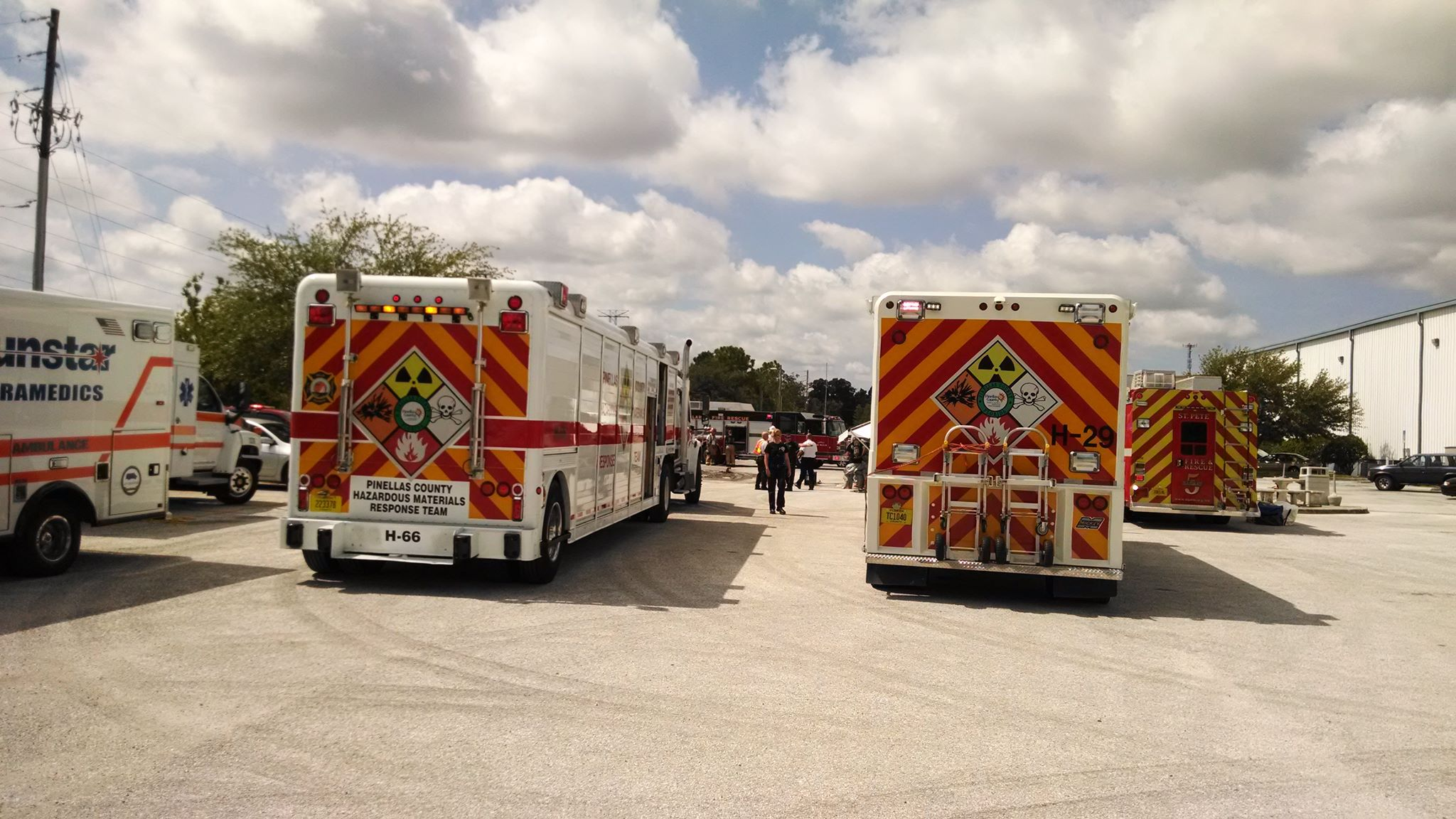 Hazmat at Pinch A Penny Warehouse in Clearwater