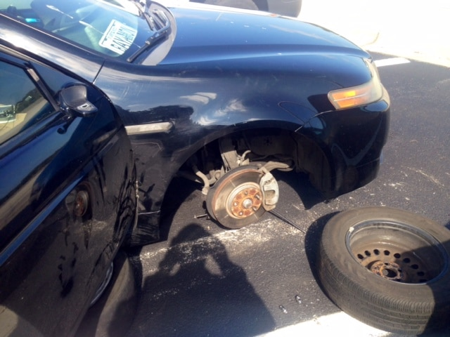 Tire Thief Arrested by FHP at North Skyway Parking Lot