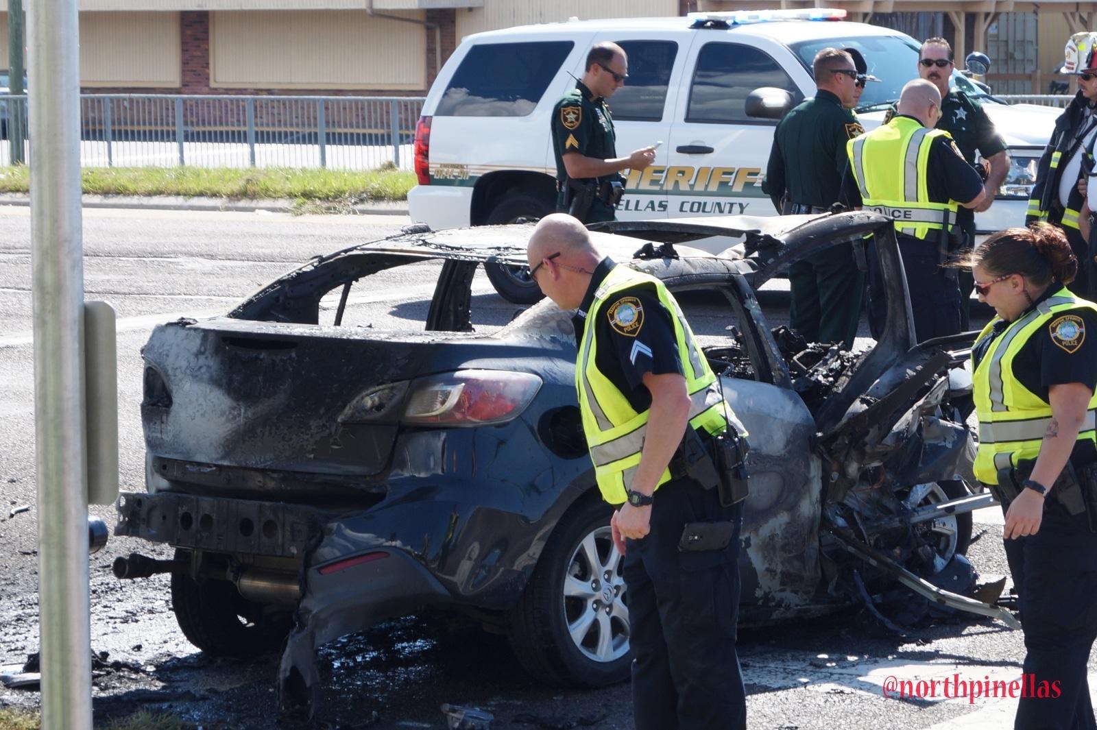 Fiery Crash Kills Two on US-19 in Tarpon Springs