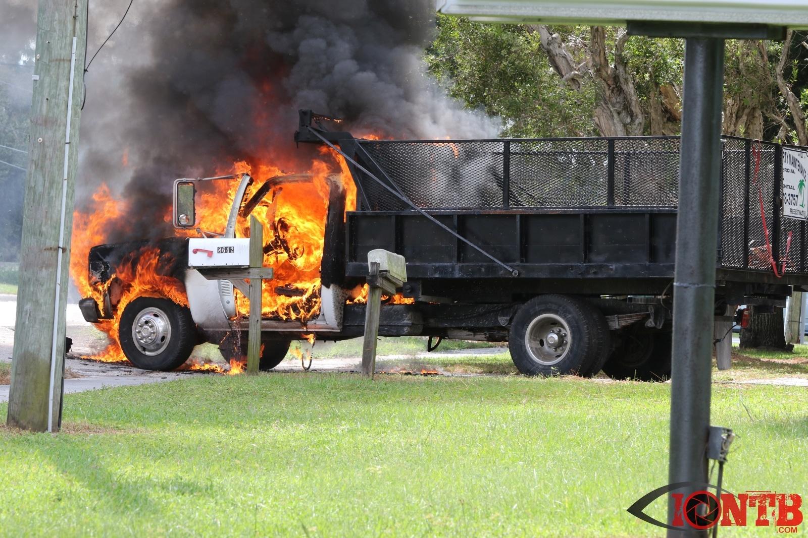 Truck Fire Stalls Traffic on Starkey Road in Seminole