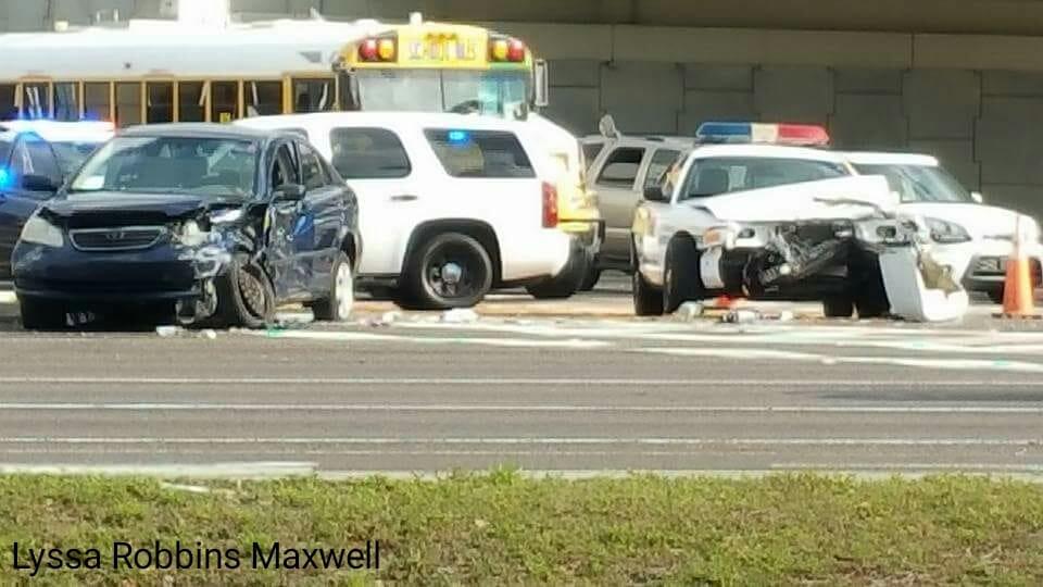Vehicle crash on Ulmerton Road involving Pinellas Deputy.
