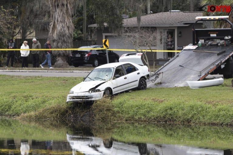 Crews On-scene of Vehicle in St. Petersburg Pond
