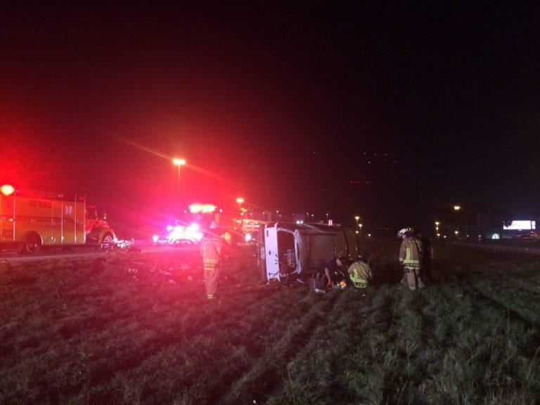 FHP Investigating Crash on I-4 Involving 2 Overturned Vehicles Near Milemarker 6