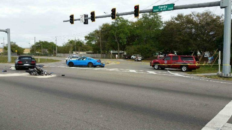 Motorcyclist Killed in DUI Crash Sunday afternoon In Pinellas Park.