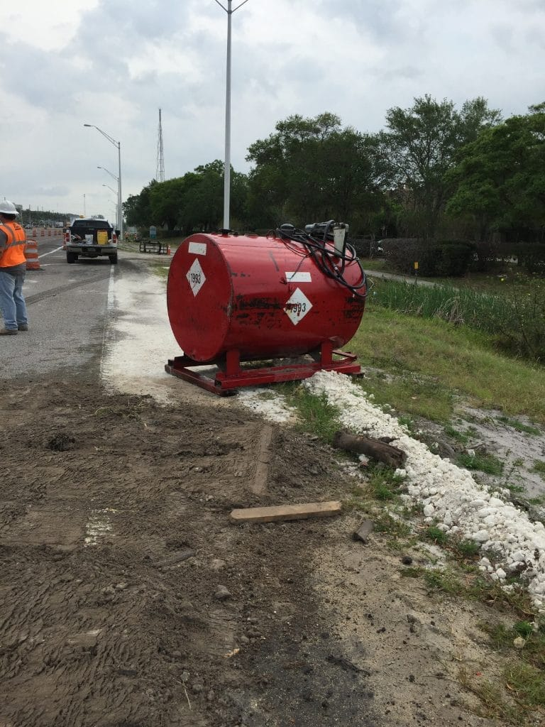 Eastbound Gandy Blvd Closed Due To Large Fuel Spill