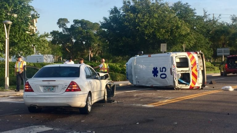 Sunstar Ambulance Rollover Crash in Clearwater