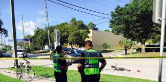 Clearwater Police investigate a bicycle crash that left a man critically injured