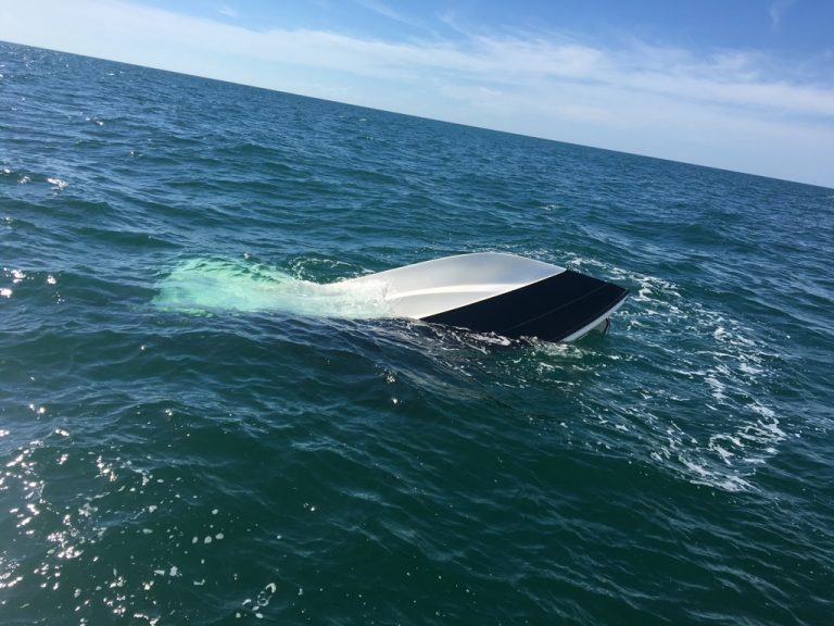 Pinellas Sheriff's Office Marine Deputies Rescue Two Boaters After Their Boat Sank off Dunedin