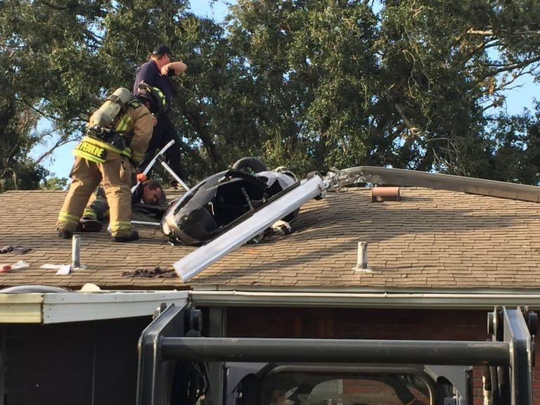 Pilot in Stable Condition After Crashing Helicopter into Roof of Odessa Home