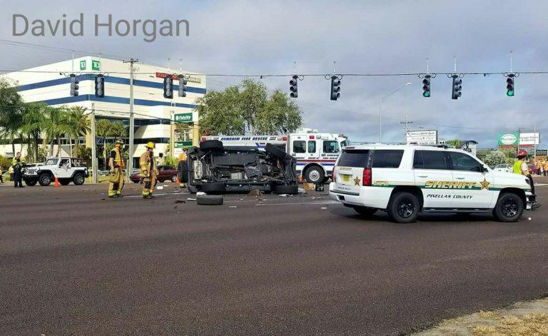 Crash Involving Pest Control Truck Closes US-19 in Palm Harbor