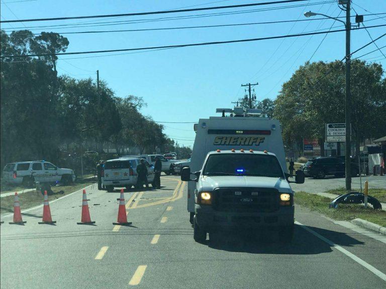 Deputy Involved Crash with Injuries Under Investigation in Tarpon Springs