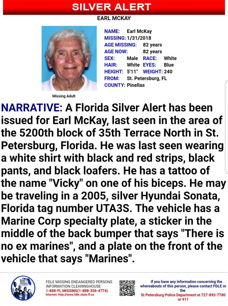 Silver Alert Issued for St. Petersburg Man