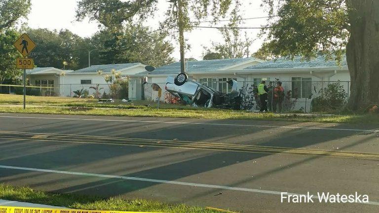 Largo Woman Injured in Seminole Rollover Crash