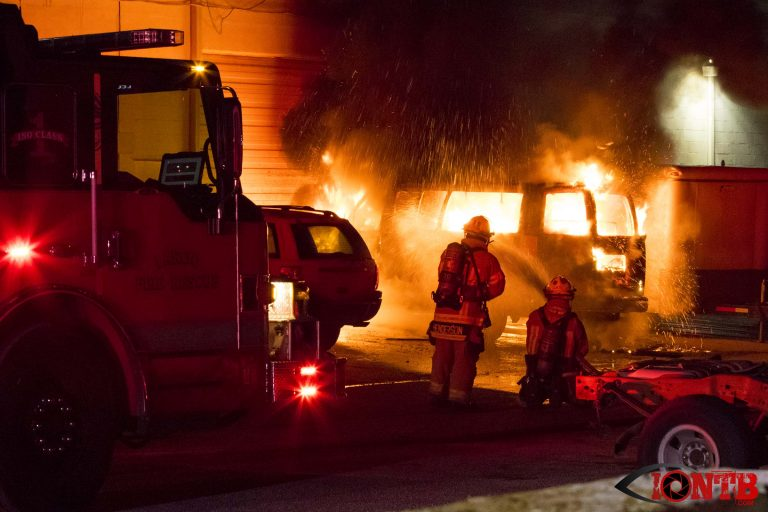 Firefighters Extinguish Fire That Engulfed Van in Largo Wednesday Evening