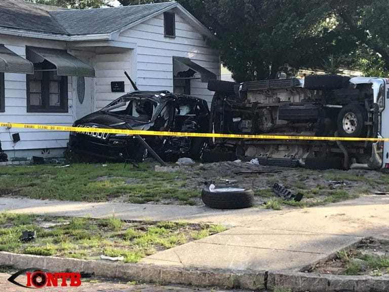 Woman Injured in Rollover Injury Crash After Jeep Hits St. Petersburg Home