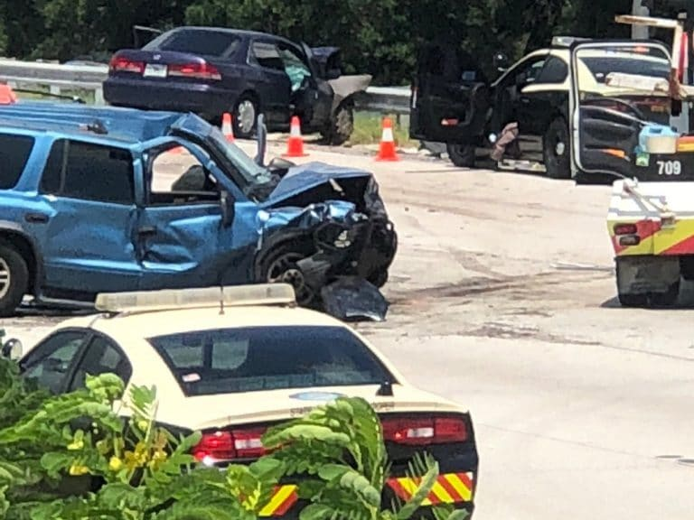 Four Seriously Injured in Multiple Vehicle Crash on I-275 in St. Petersburg