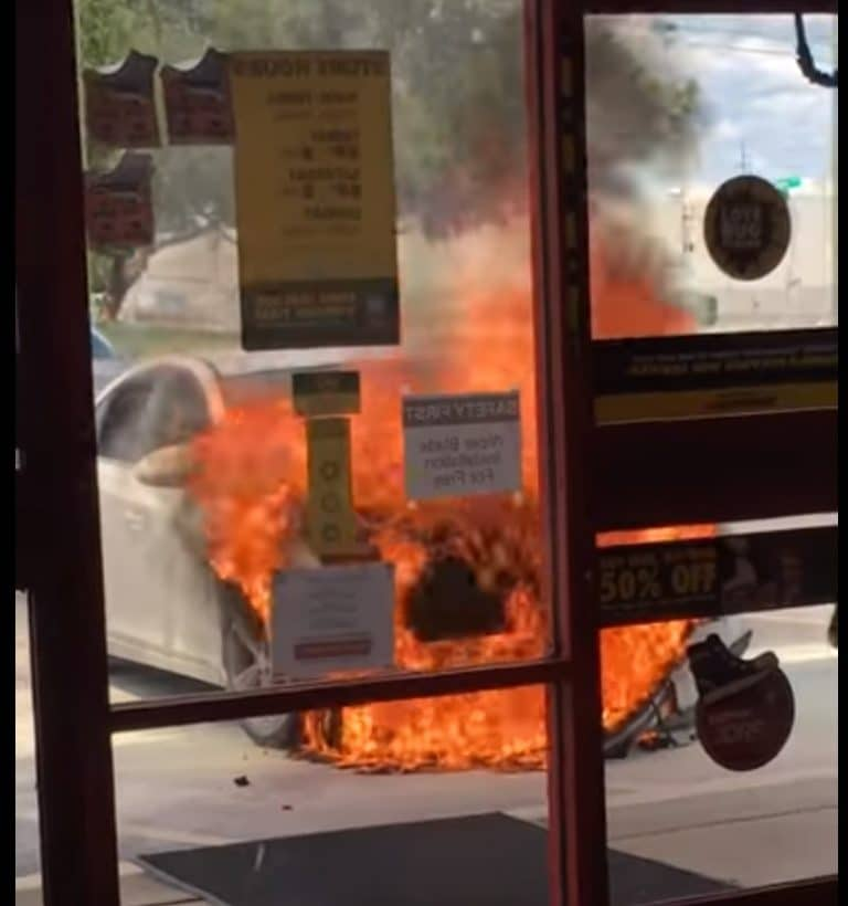 Pasco Man's Vehicle Catches Fire After Fleeing Hit and Run Crash in Tarpon Springs