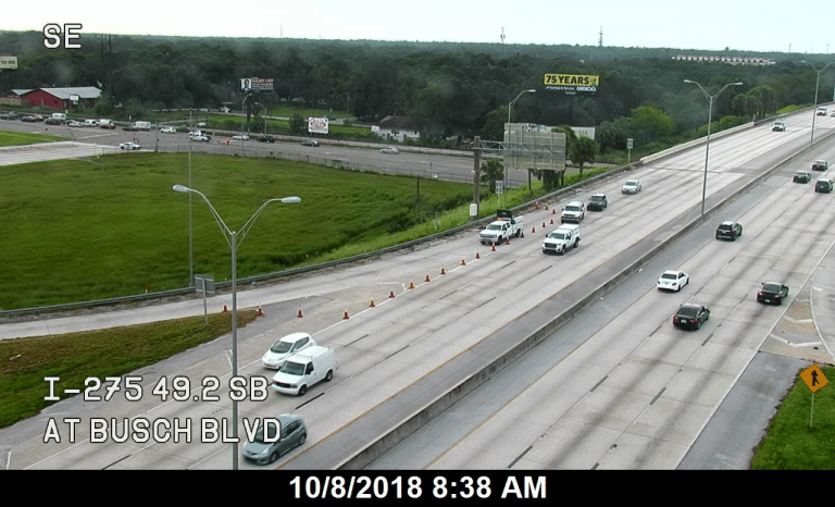 Tampa Police Investigating Fatality Crash on Busch Boulevard Involving a Motorcyclist