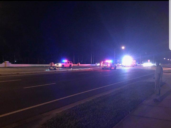 Motorcyclist Sustains Life Threatening Injuries in Bay Pines Crash