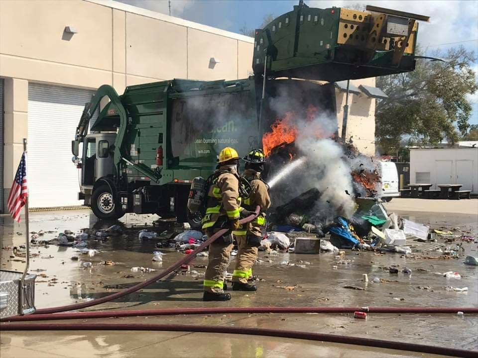 Seminole Firefighters Battle Fire Inside Waste Management ...