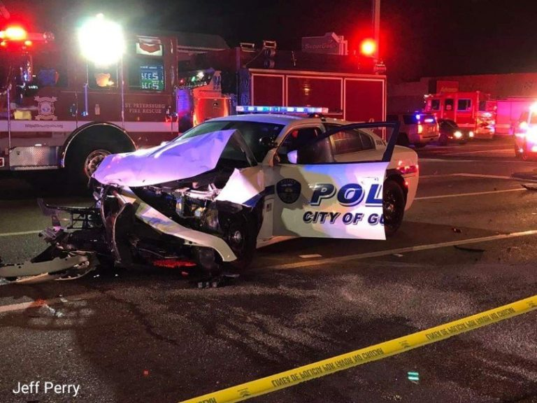 Police say suspected impaired driver runs run light, hits Gulfport police vehicle