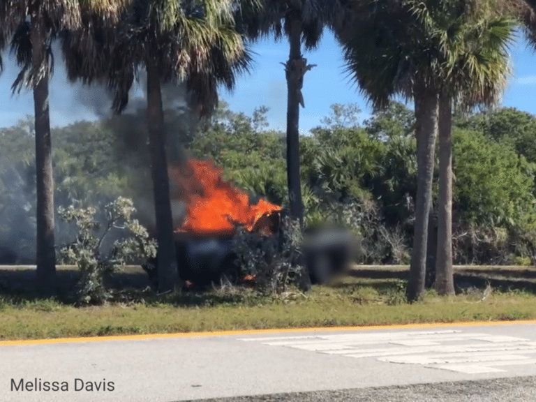 Firefighters locate body following vehicle fire on Pinellas Bayway
