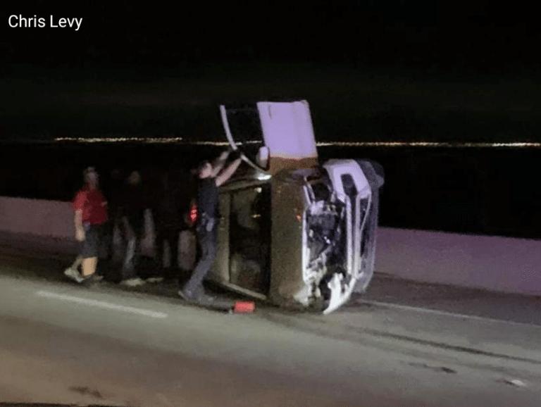 Rollover crash on Howard Frankland Bridge kills Pinellas Park man