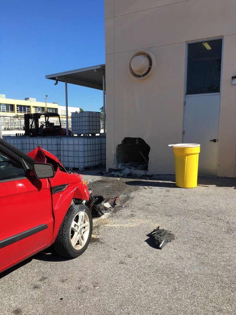 Elderly man injured in vehicle versus building crash in Clearwater