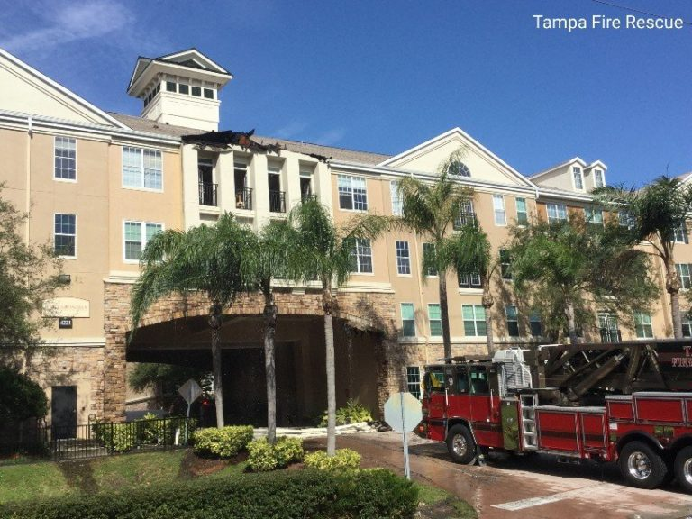 Tampa Fire Rescue responds to two-alarm fire at West Shore condos