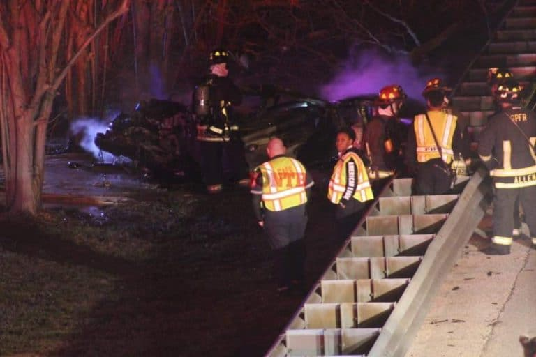 Two dead after car flees traffic stop then crashes in flames on I-275 in St. Petersburg