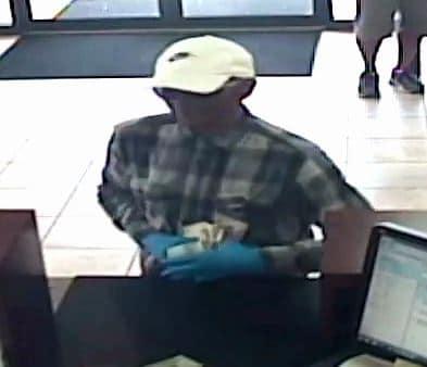 Pinellas deputies seek bank robbery suspect in Palm Harbor