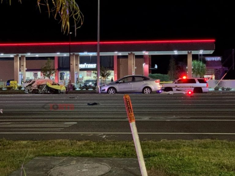 Subject arrested after fleeing from a multiple fatality crash on US-19 at Tampa Road