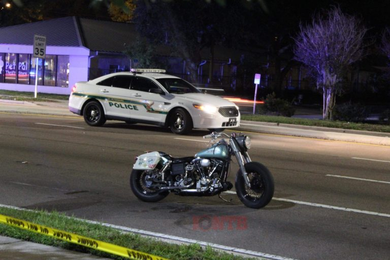 St. Petersburg Police investigating the death of a motorcyclist in a hit and run crash, passenger injured