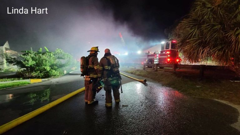 Three alarm structure fire at Clearwater storage unit facility
