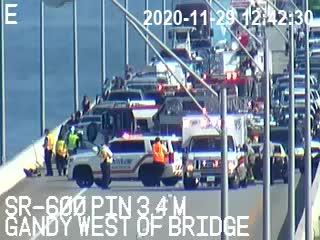 All westbound lanes of Gandy Bridge closed due to crash involving Florida Highway Patrol trooper