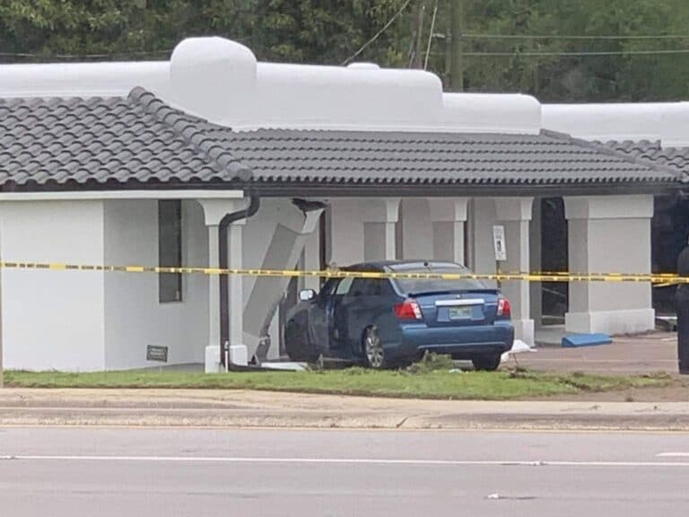Car strikes and kills pedestrian before hitting St. Petersburg office building, driver arrested for DUI