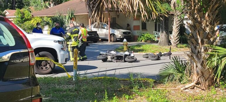 Stepfather arrested after toddler seriously injured in motorcycle crash on Engman Street in Clearwater