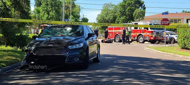 Scooter operator seriously injured in crash on Drew Street in Clearwater