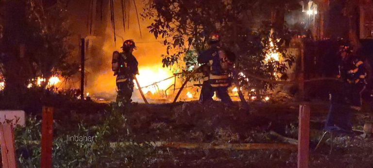 Firefighters battle structure fire on Pennsylvania Avenue in Clearwater