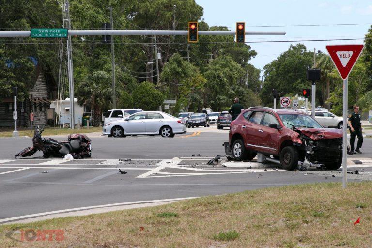 Motorcyclist dead following crash on Seminole Boulevard
