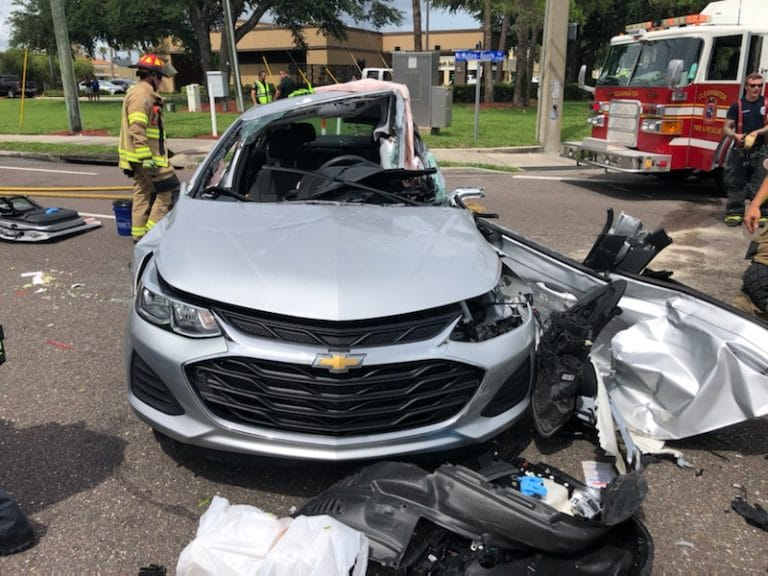 Seriously injured driver flown from crash on McMullen Booth Road