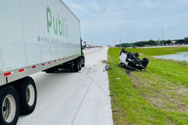 Troopers investigate fatal rollover crash on I-75 frontage road at SR-60